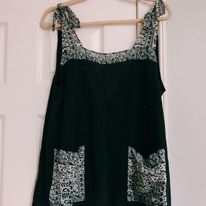Urban Outfitters Printed Tie Tank